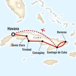 Cuba Colonial Map