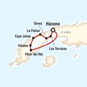 Cycle Cuba Map