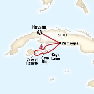 Sailing Cuba Tour Map